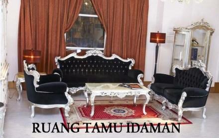 Ruang Tamu Dengan Kursi Tamu Idaman